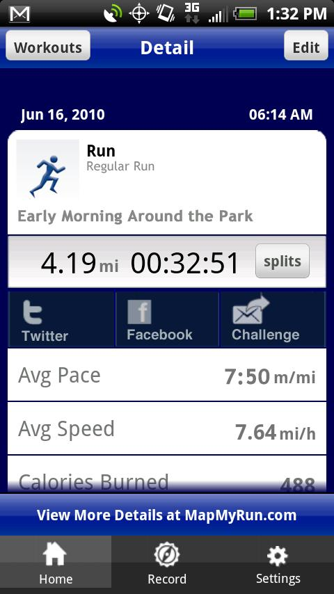 Map My Run All In Moderation - Map my distance